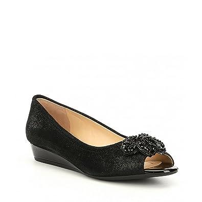 d0ecd1632b8f8 (アレックスマリー) Alex Marie レディース シューズ・靴 Desirae Metallic Leather Beaded Ornament  Peep