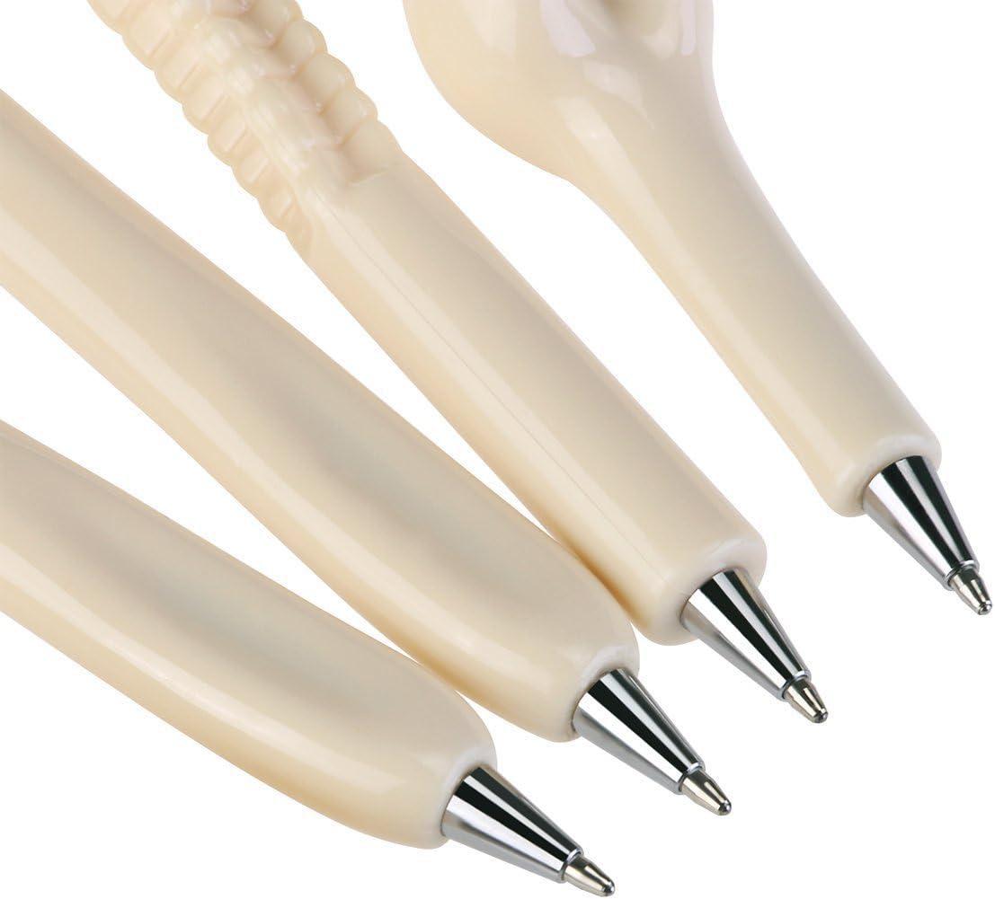 10pcs Ballpoint Pen 0.7mm Black Ink Skeleton Bone Shaped Pen for Teen Boy and Girl,Creative Birthday//Halloween//Christmas Gift for School Students and Teachers