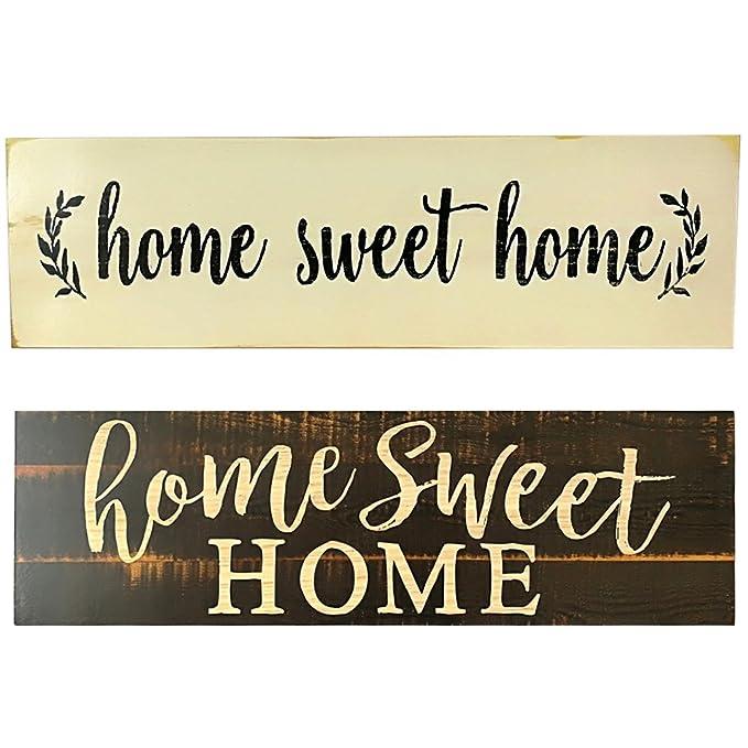 Weehey Home Sweet Home Script Design Gran Cartel de Madera ...