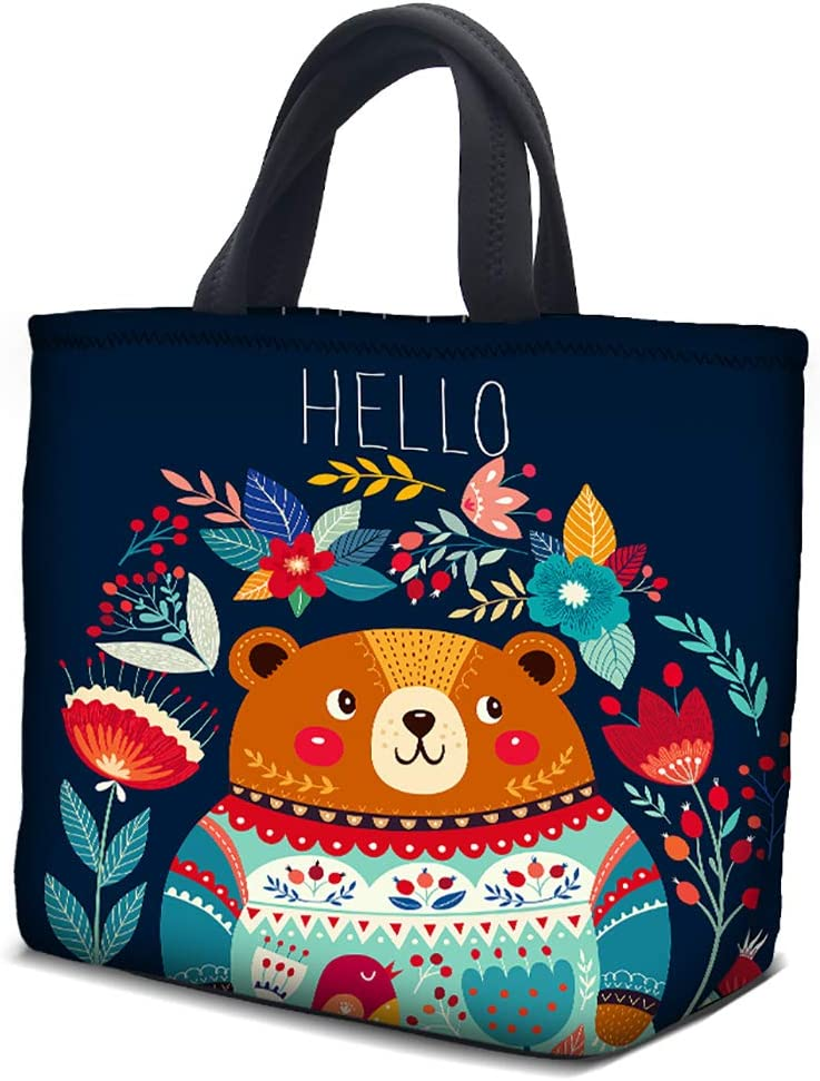 Insulated Lunch Bag Bags for Women Men Adult 10.6