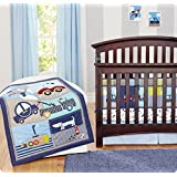 Blue Car 7pcs crib set Baby Bedding Set Crib Bedding Set Girl Nursery Crib Bumper bedding Fitted Sheet