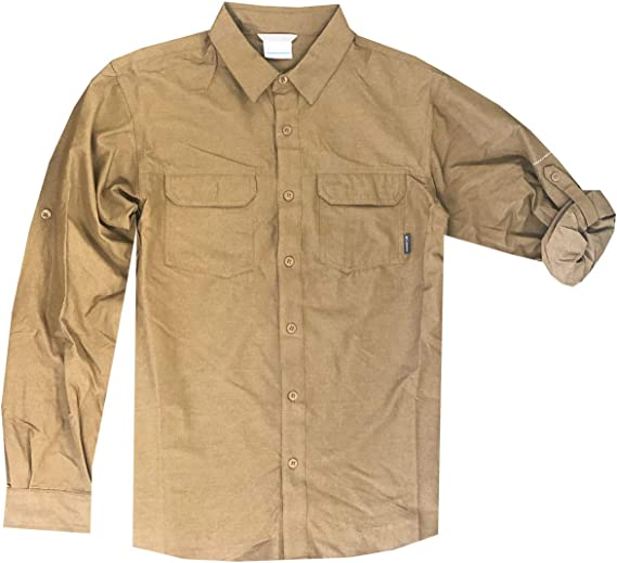 Hajotrawa Mens Long-Sleeve Outdoor Slim Fit Button Down Pattern Fleece Shirt