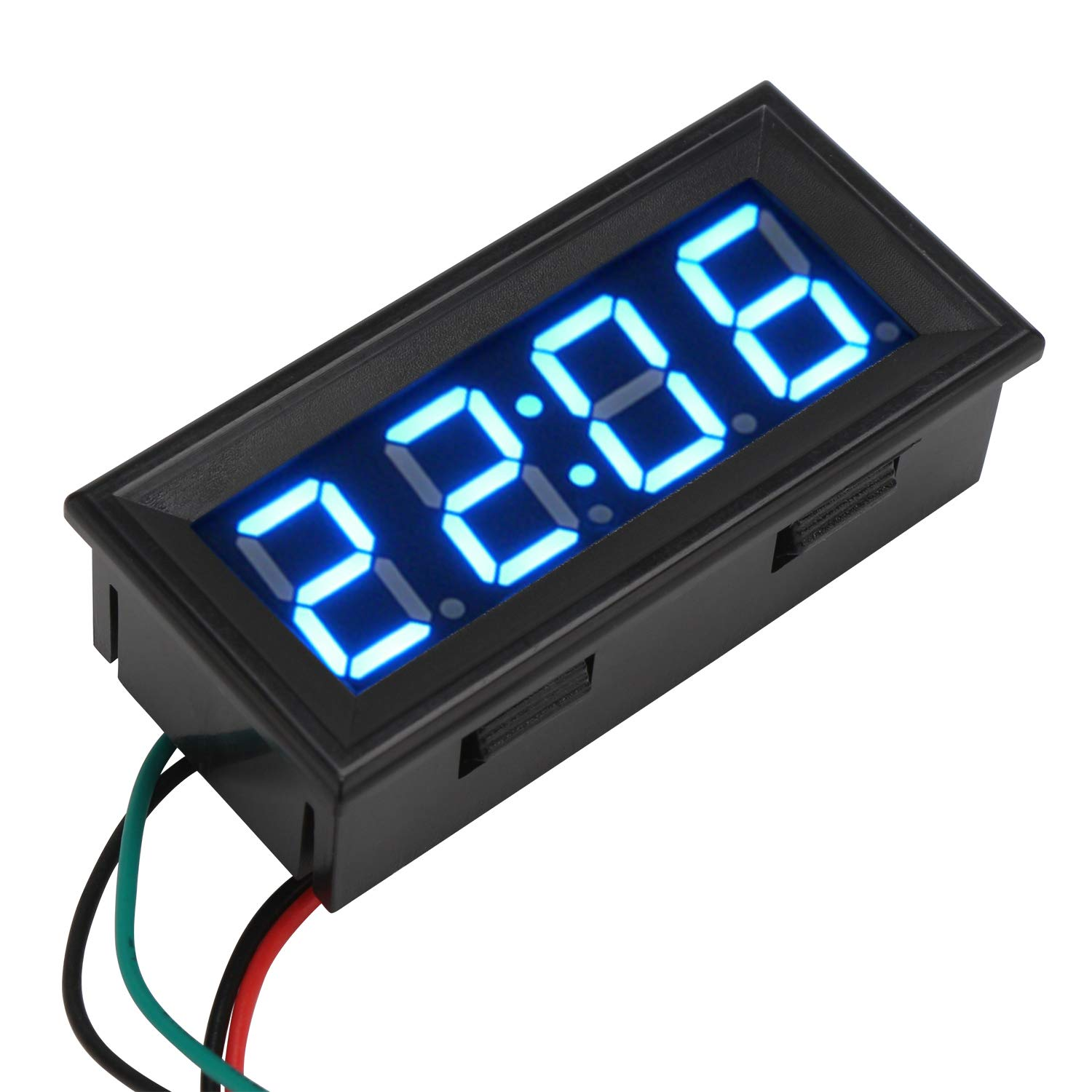 SimpleLife DC 12V Digital LED RGB Dashboard Waterproof Auto Clock Time for Car Motorcycle
