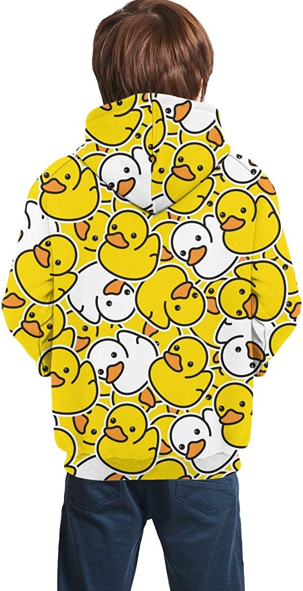 Delerain Duckss Hoodies Sweatshirts for Kids Teens Hoody Tops with Pockets