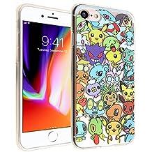 iPhone 8 Case, DURARMOR FlexArmor Pokemon Go Collection Flexible TPU Bumper Case Ultra Thin ScratchSafe Shock Absorption Protective Case Cover for iPhone 8 Pokemon Go