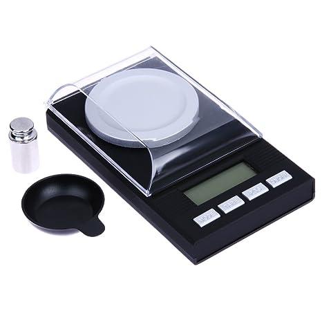 SODIAL Mini bascula Digital portatil Bascula de Bolsillo de Alta Precision de Joya Diamante de Equilibrio