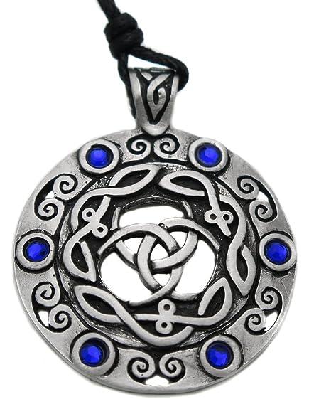 Colgante de escudo de árbol de la vida celta, bret&oacute ...