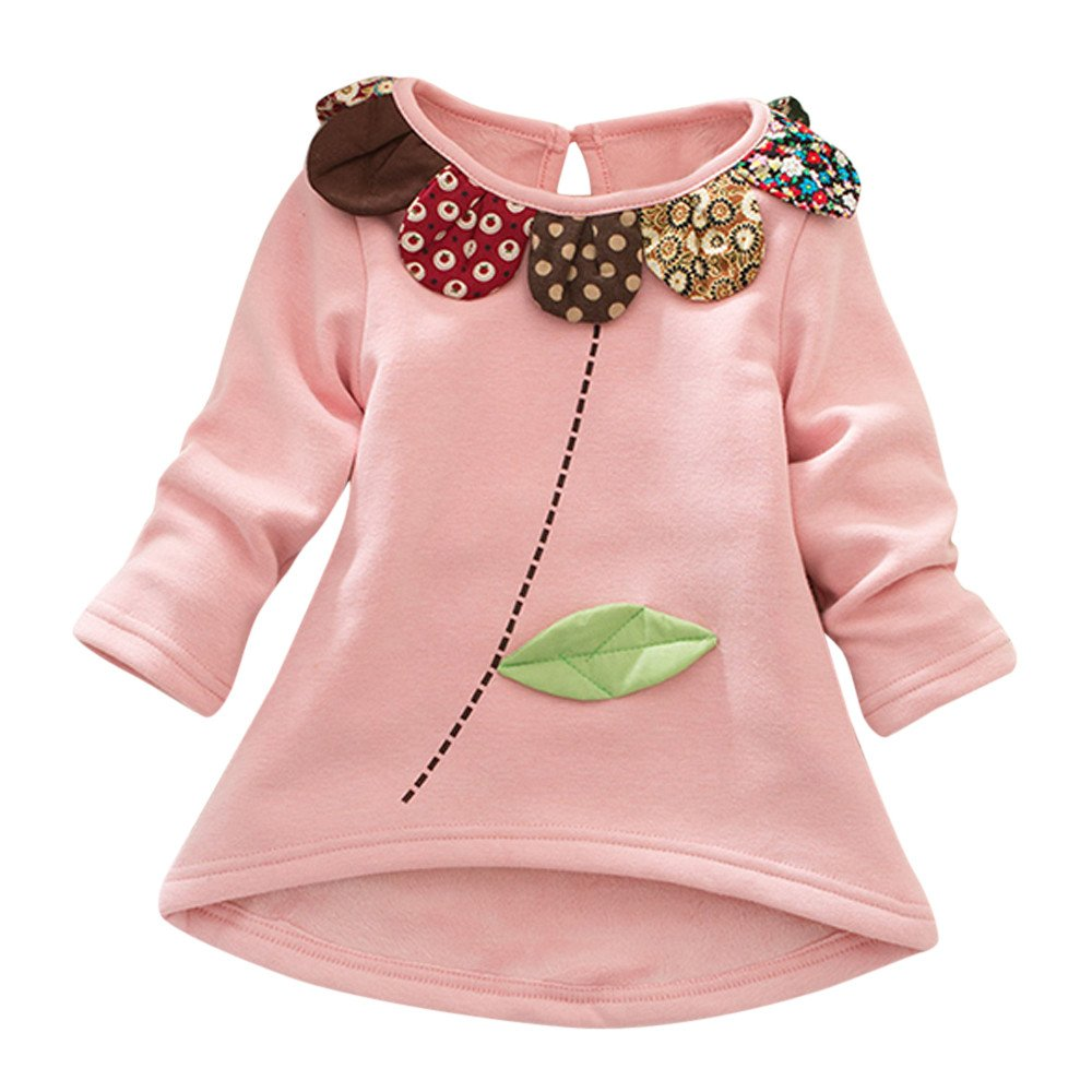 Baby Girl Clothing Clearance Winter Toddler Kids Girls Boys Cartoon Flower Long Sleeve Tops Blouse Pullover Clothes