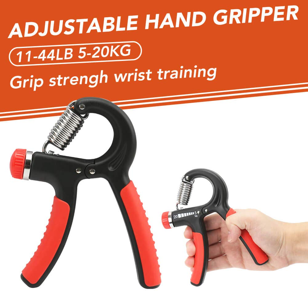 CleanDell Grip Strength Equipment Exercise Accessories Grip Strengthener Forearm Strengthener Exercise kits-8 Pack Adjustable Hand Gripper, Finger Exerciser, Finger Stretcher,Exercise Ring &Grip Ball