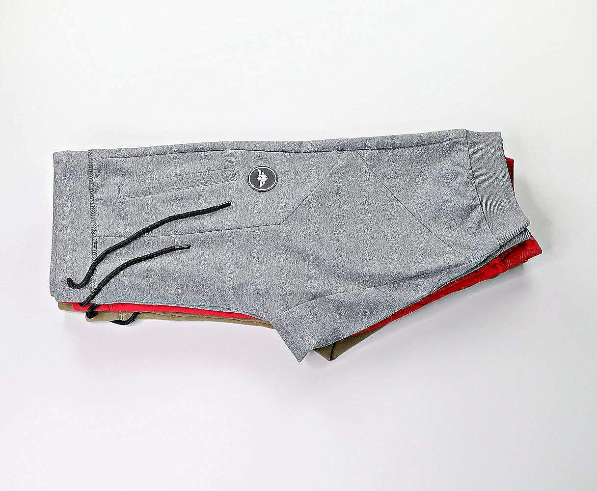 Gray, Large FLEX-N-FLEX Mens 3//4 Cuffed Yoga Pant