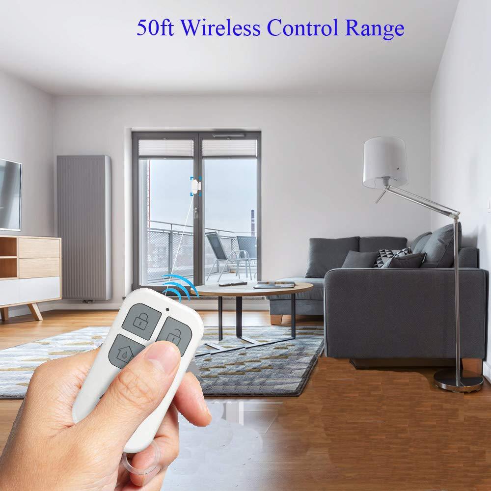 2 Alarm Sensors + 1 Remote Control Door Window Pool Alarm,130dB Wireless Magnetic Sensor Anti-Theft Door Alarms for Kids Safety,Home Store Garage Apartment Business Security