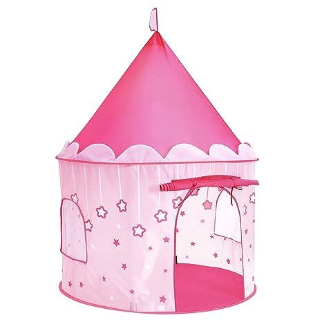 c492076276d7a4 SONGMICS Tenda da Gioco Castello da Principessa per Ragazze e Bambini,  Casetta dei Giochi per