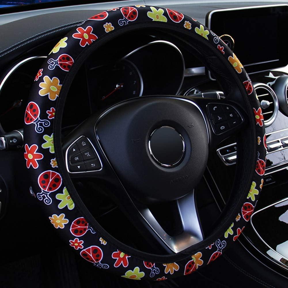 f/ür die Auto-Dekoration iTimo Car Elastic Universal Lenkradbezug Blumendruck-Stil