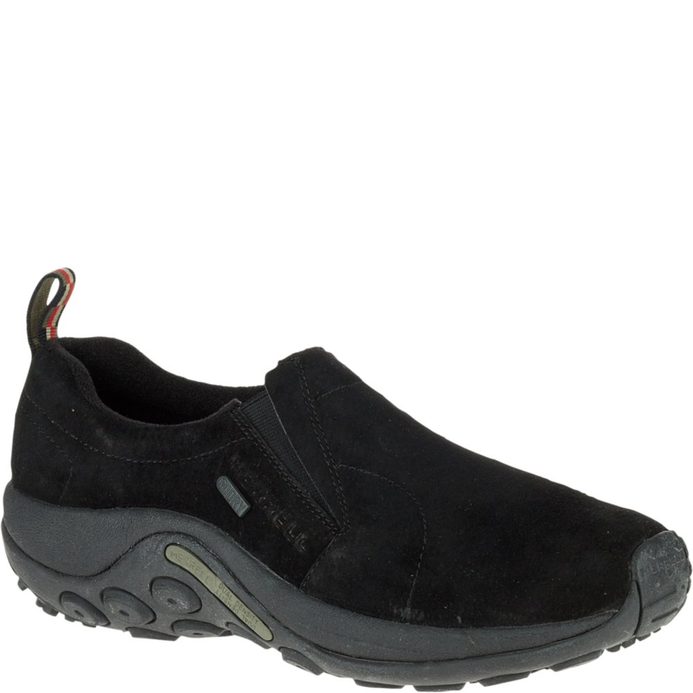Merrell Men's Jungle Moc Waterproof Slip-On Shoe,Black,11 M US