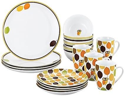 Rachael Ray Dinnerware Little Hoot 16 Piece Dinnerware Set  sc 1 st  Amazon.com & Amazon.com | Rachael Ray Dinnerware Little Hoot 16 Piece Dinnerware ...