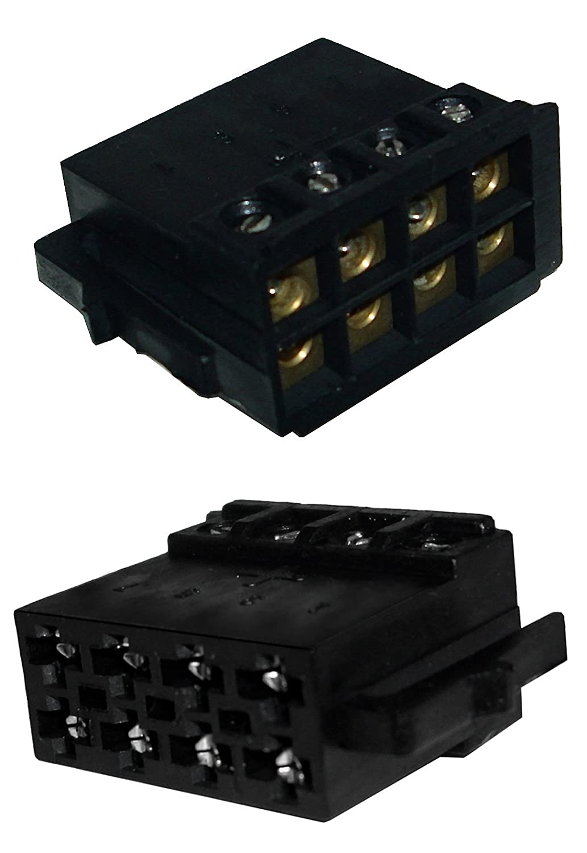 Autoradio ISO DIN Stecker Adapter für Lautsprecher, schraubbare ...