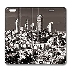 iPhone 6 Plus Case, Fashion Protective PU Leather Flip Case [Stand Feature] Cover Nob Hill San Francisco for New Apple iPhone 6(5.5 inch) Plus