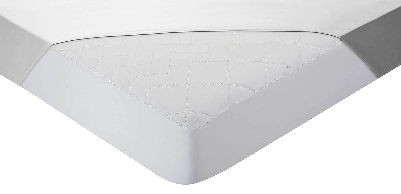 Pikolin Home - Protector de colchón acolchado cubre colchón, antialérgico, antiácaros, antibacterias y antimoho, impermeable y transpirable, 90 x 190/200 cm ...