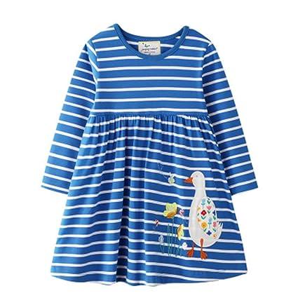 Wang-RX Vestidos de Manga Larga para niños para niñas Otoño ...