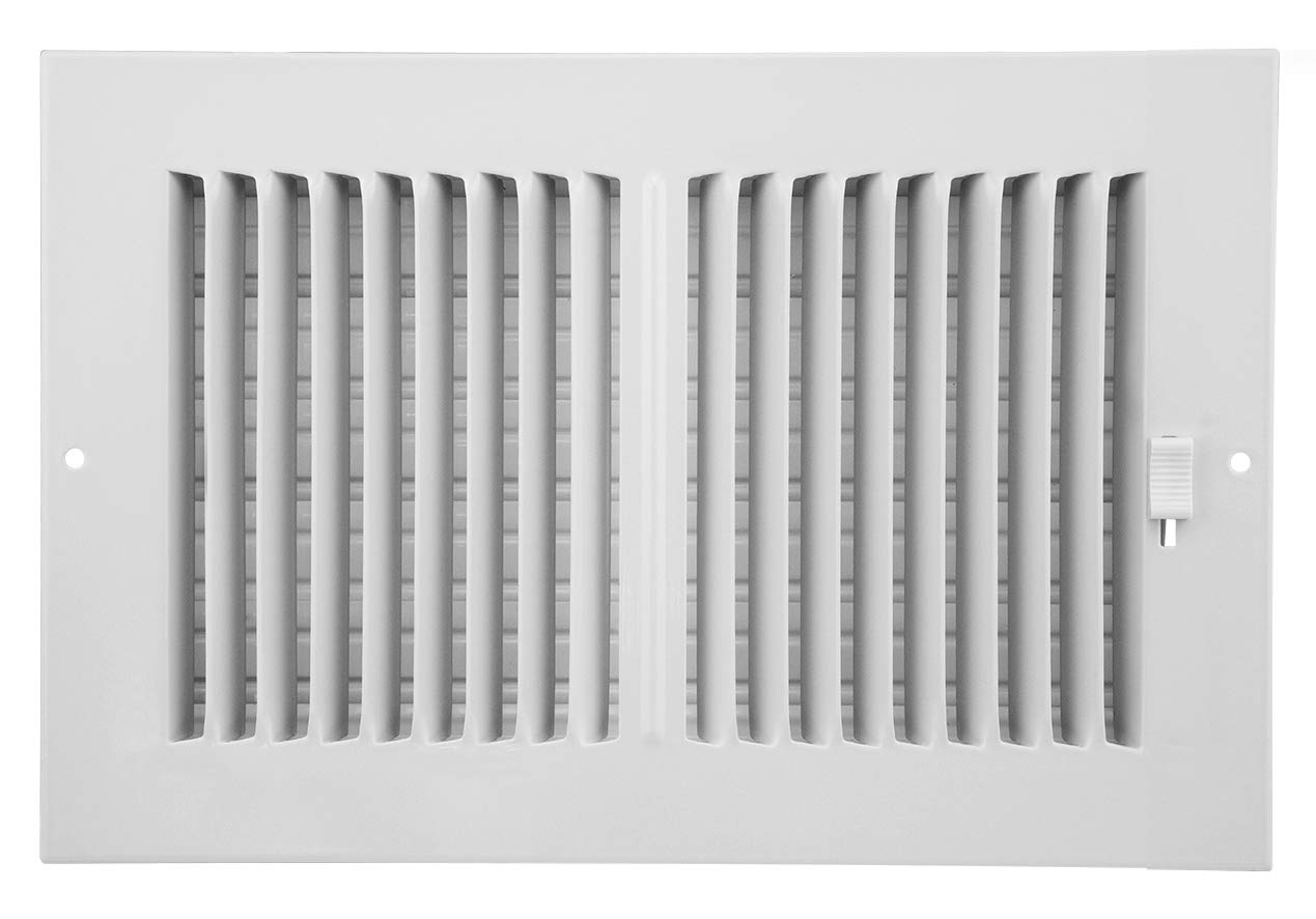 Accord Ventilation AASWWH2106 Sidewall/Ceiling Register with 2-Way Aluminum Design, 10' x 6'(Duct Opening Measurements), White 10 x 6(Duct Opening Measurements) Accord AASWWH2106 Sidewall/Ceiling Register with 2-Way Aluminum Design
