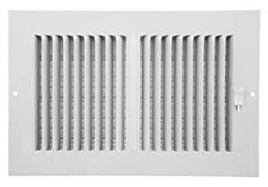 Accord AASWWH2106 Sidewall/Ceiling Register with 2-Way Aluminum Design, 10-Inch x 6-Inch(Duct Opening Measurements), White