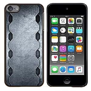 YiPhone /// Prima de resorte delgada de la cubierta del caso de Shell Armor - Patrón de acero minimalista - Apple iPod Touch 6 6th Touch6