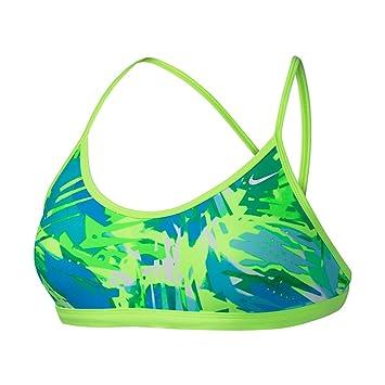 Nike Bañador para Mujer Tropic Tirantes para Deporte Sujetador Superior XS - Verde: Amazon.es: Deportes y aire libre
