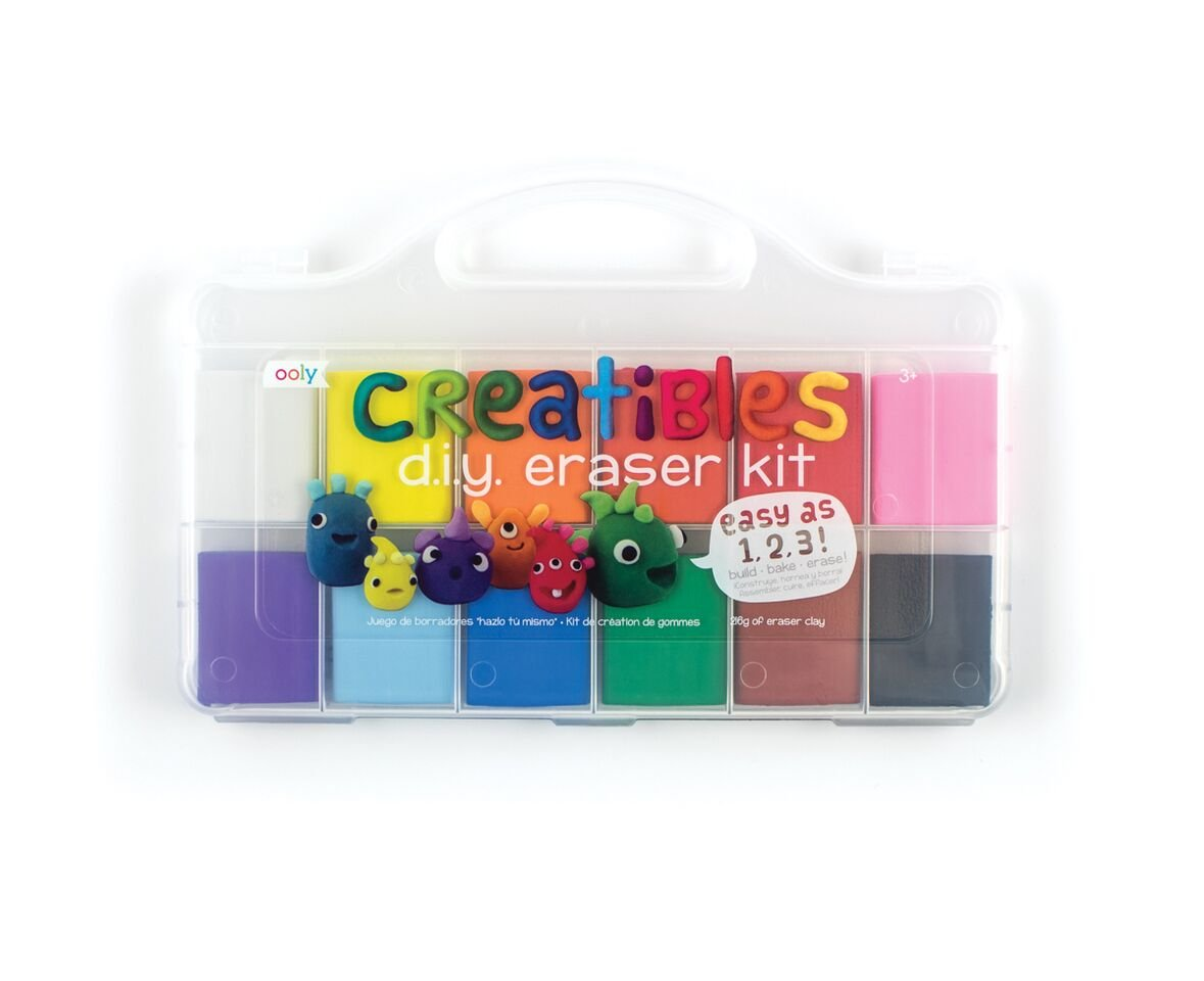 OOLY, Creatibles DIY Erasers, Set of 12 (161-001) by OOLY