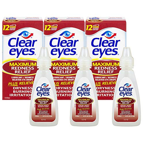 (Clear Eyes | Maximum Redness Relief Eye Drops | 0.5 FL OZ | Pack of 3 )