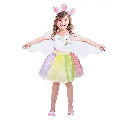 Unicorn Costume for Girls Unicorn Outfit Dress up Tutu Dress Rainbow Dress Unicorn Gifts: Clothing