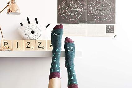 """UO""""con TE en cada Paso verdes calcetines, Algodón, Color Verde, ..."""