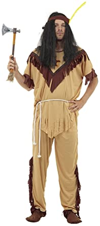 005f117768a Mens Native American Red Indian Chief Squaw Scout Cowboy Stag Do ...