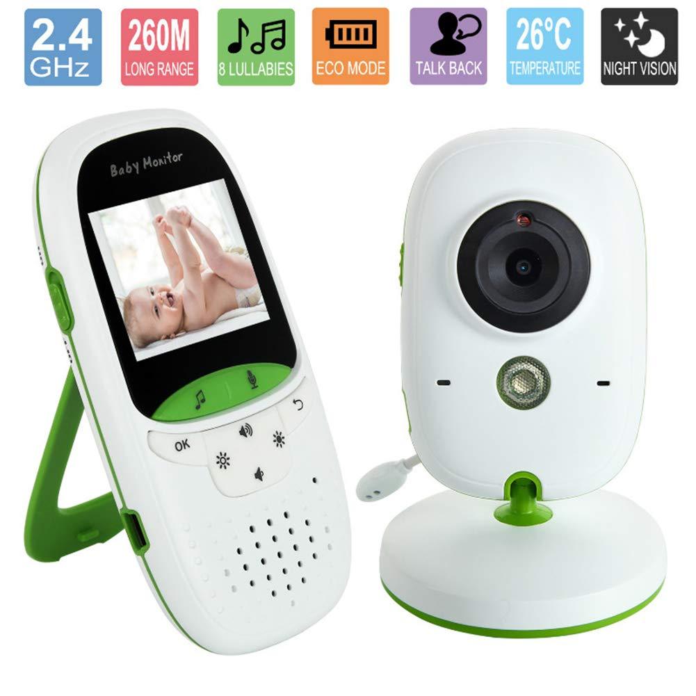 完璧 ワイヤレスベビーカメラ2.0インチ液晶モニターナイトビジョンデジタルカメラは8子守唄と双方向通話装置をサポートします(ホワイトグリーン) B07R3V5J87 B07R3V5J87, フクオカマチ:333a2ca7 --- dou13magadan.ru