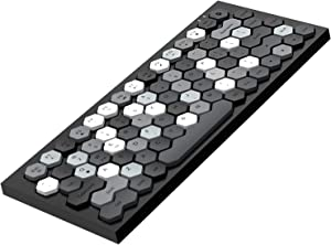 MOFii Bluetooth Keyboard with Built in Rechargeable Lithium Battery, Wireless Keyboard with Hexagon Keycaps, Bluetooth and Wired Version Keyboard for Computer,Tablet,MAC, Ipad