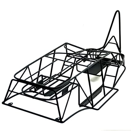 10 Scale Rc Truck Steel Frame Body Roll Cage Set Black