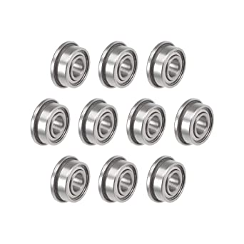 6x17x6 mm Flange Metal Double Shielded Ball Bearing 6*17*6 10 PCS F606zz