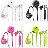 CBGGQ 4 Pares Auriculares In Ear con Micrófono, 3,5 mm con Cable para Ajustar el Volumen, Estéreo, Graves Profundos…