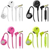 Headphones Heavy Bass Stereo Earphones Earbuds Noise Isolating Tangle Free Headsets CBGGQ in Ear Headphones with Remote & Mic