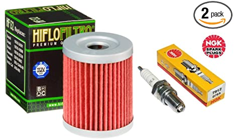 Amazon com: Oil Filter Spark Plug Tune Up Kit ATV Suzuki King Quad