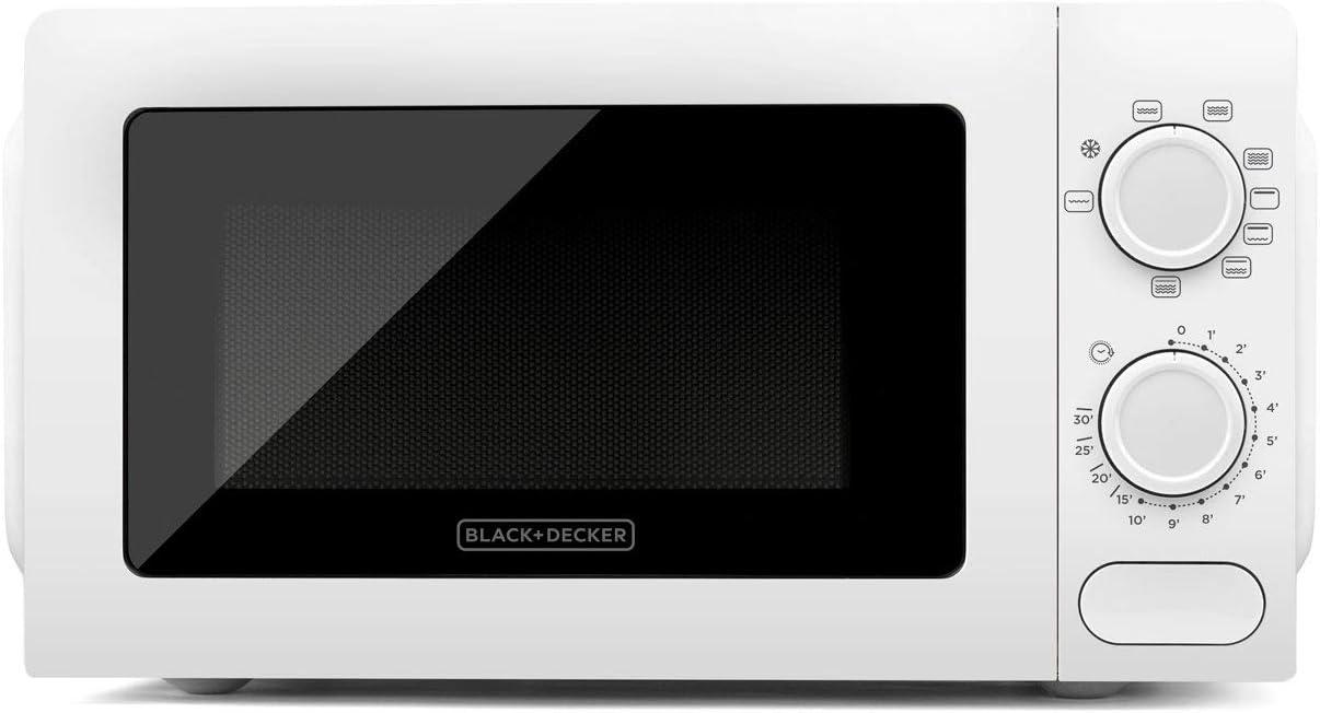 Black+Decker BXMY700E Microondas con Grill, 20 litros, 5 niveles de potencia y 3 funciones combinadas