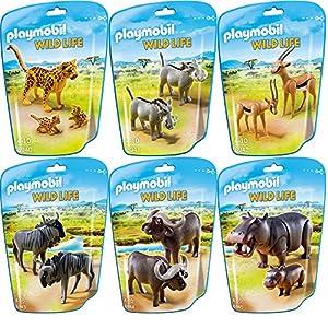 playmobil wild life animals of africa 6 pcs set 6940 6941 6942 6943 6944 6945. Black Bedroom Furniture Sets. Home Design Ideas