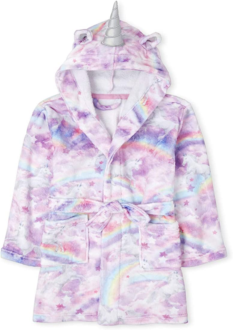 The Childrens Place Girls Pink Hooded Cover Up
