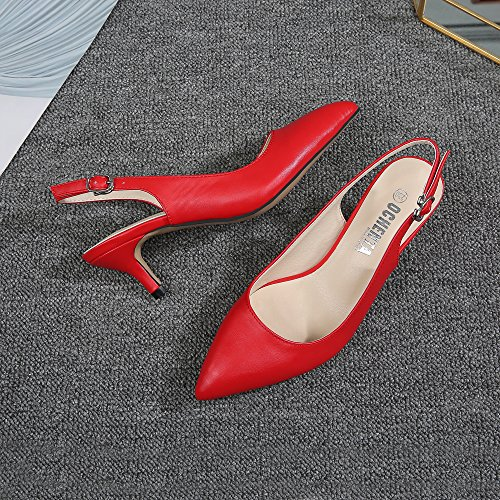 Caviglia PU Donna OCHENTA La Red Cinturino Dietro S0xRxtY