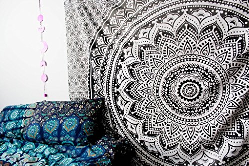 Exclusive Black Grey Ombre Mandala by
