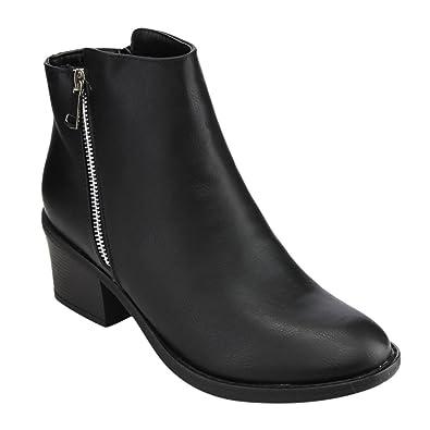 bb69e45ed9a7 Reneeze Pama-02 Women s Blocked Heels Ankle Booties