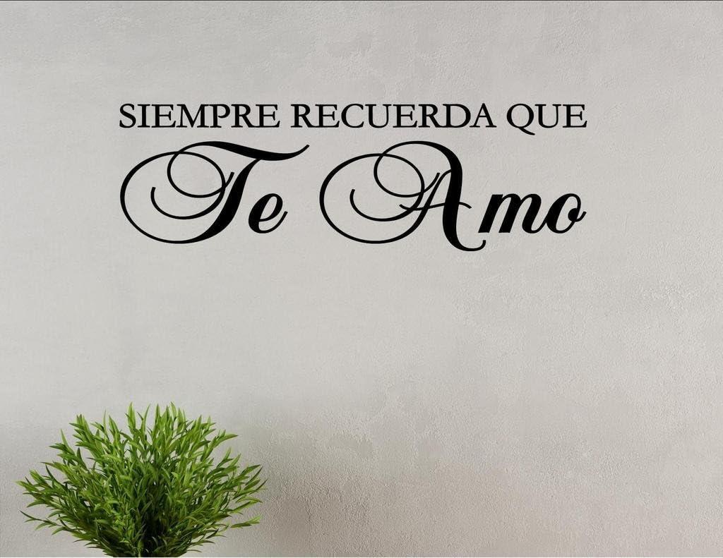 Vinyl Quote Me Siempre RECUERDA QUE Te Amo Spanish Vinyl Wall Saying Quote Words Decal