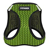Best Pet Supplies Voyager All Weather No Pull Step-in Mesh Dog Harness with Padded Vest - Lime Green - Small