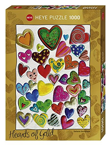 Heye Mixed Crowd 1000 Piece Hearts of Gold Jigsaw Puzzle