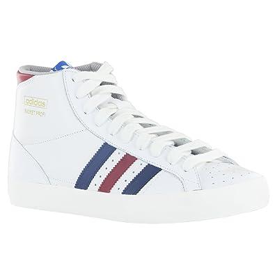 finest selection 70e2f d5f0a Adidas Basket Profi Lo White Mens Trainers Size 8 UK Amazon.co.uk Shoes   Bags