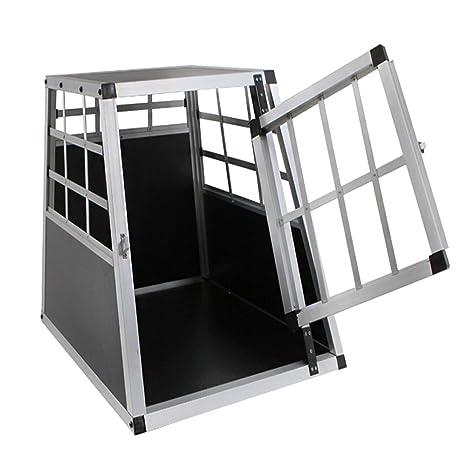 MCTECH Jaula de Transportín para Perros Trapezoidal Caja para Perros Aluminio 54 x 69 x 50 cm (Solo Pequeño): Amazon.es: Productos para mascotas